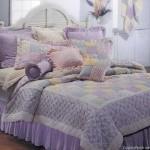 Colcha de Patchwork lilás